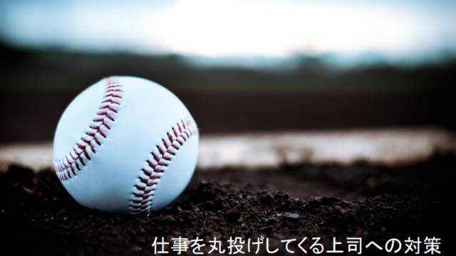 丸投げ(ボール)のイメージ画像